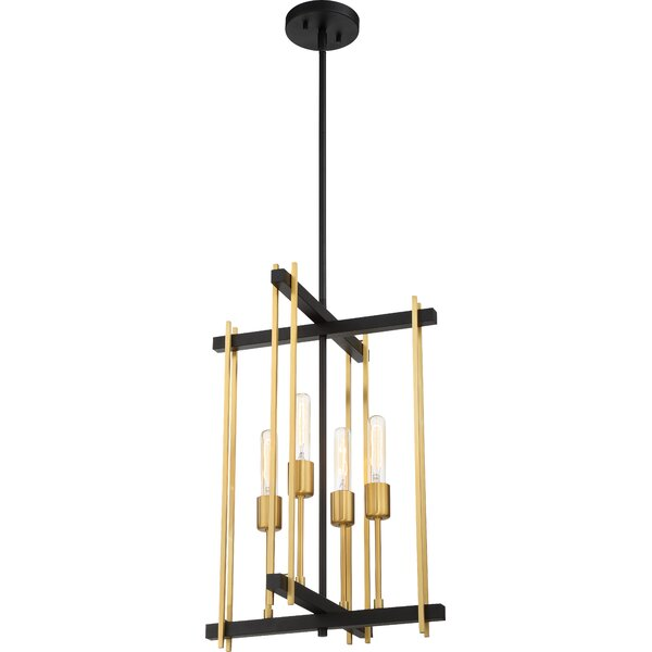 Tedesco 4 - Light Candle Style Geometric Chandelier By Mercer41