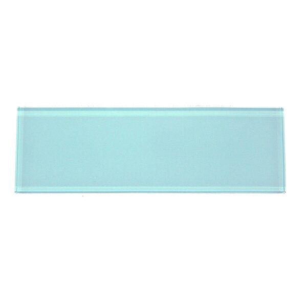 Premium Series 4'' x 12'' Glass Subway Tile in Aqua Blue by WS Tiles