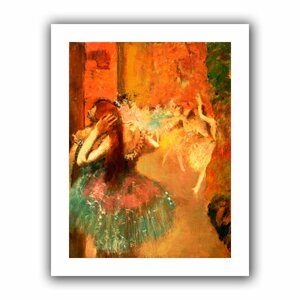 Ballet Scene' by Edgar Degas Painting Print on Rolled Canvas by ArtWall