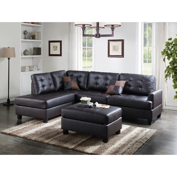 Left Hand Facing Sectional with Ottoman by Infini Furnishings Infini Furnishings