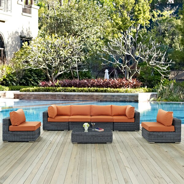Keiran 7 Piece Sunbrella Sectional Set with Cushions by Brayden Studio Brayden Studio
