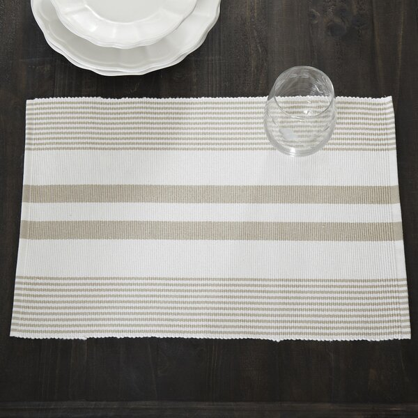 Hooper Striped Placemats (Set of 6) by Birch Lane™