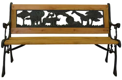 Junior Safari Cast Iron Park Bench by Pier Surplus
