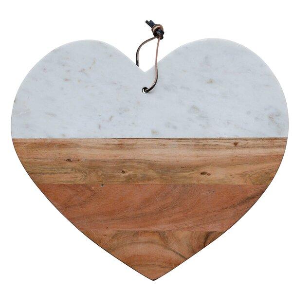 Heart Cheese Board & Platter by Creative Co-Op