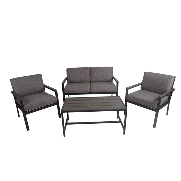 Aqiilah 4 Piece Sofa Seating Group with Cushions
