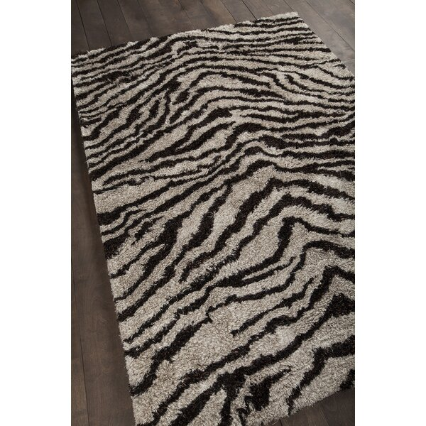 Vanetta Black / Gray Area Rug by Bloomsbury Market