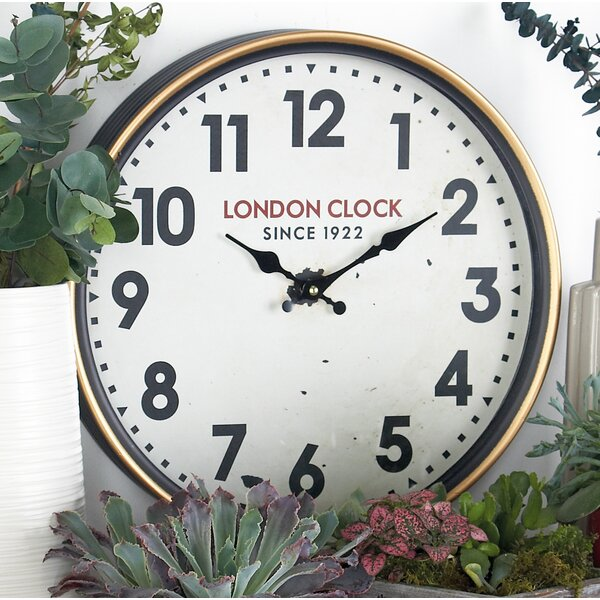 Buren Vintage London-Inspired Round 12 Wall Clock by Alcott Hill