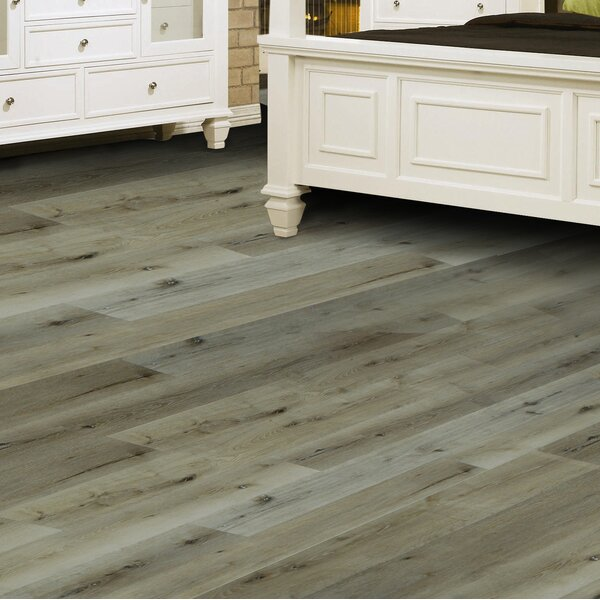 Oasis 8 x 48 x 12mm European Oak Laminate Flooring in Arctic by All American Hardwood