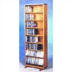 800 Series 336 CD Dowel Multimedia Storage Rack by Wood Shed