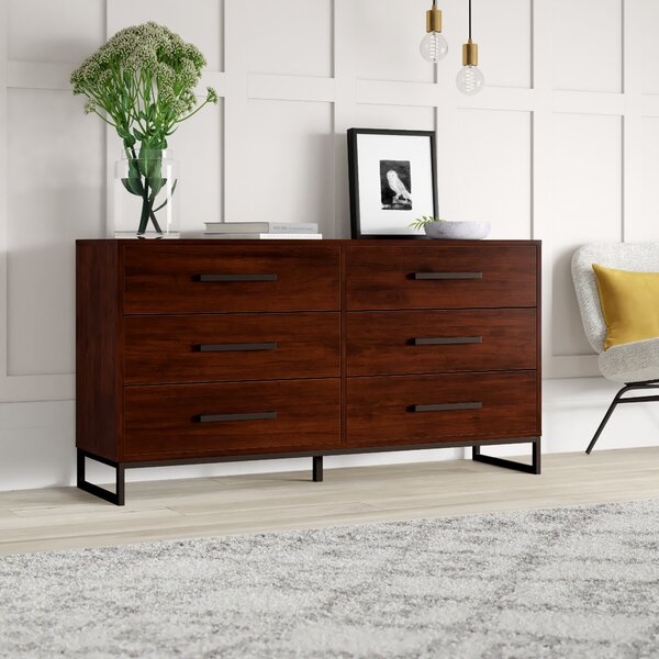 Best Choices Mcelvain 6 Drawer Double Dresser By Mercury Row Sale