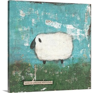 'Faith Sheep' by Cassandra Cushman Wall Art on Wrapped Canvas by Great Big Canvas