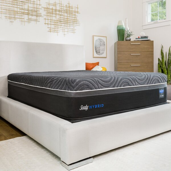 Hybrid™ Premium Silver Chill Cooling 14 Plush Mattress and 9 Box Spring by Sealy