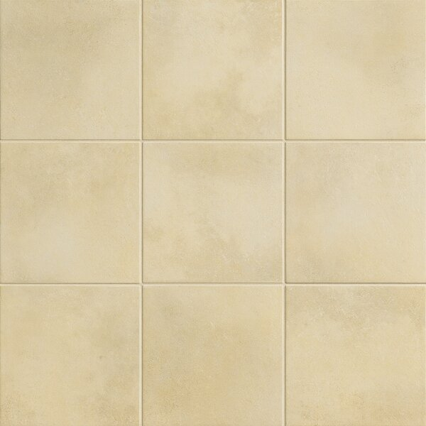 Poetic License 18 x 18 Porcelain Field Tile in Chardonnay by PIXL