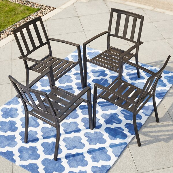 Tadlock Stacking Patio Dining Chair (Set of 4) by Winston Porter