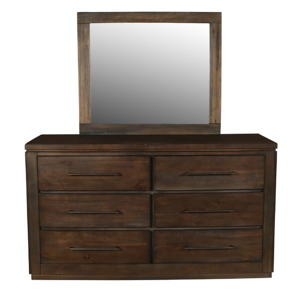 Neuhaus 6 Drawer Dresser with Mirror by Union Rustic