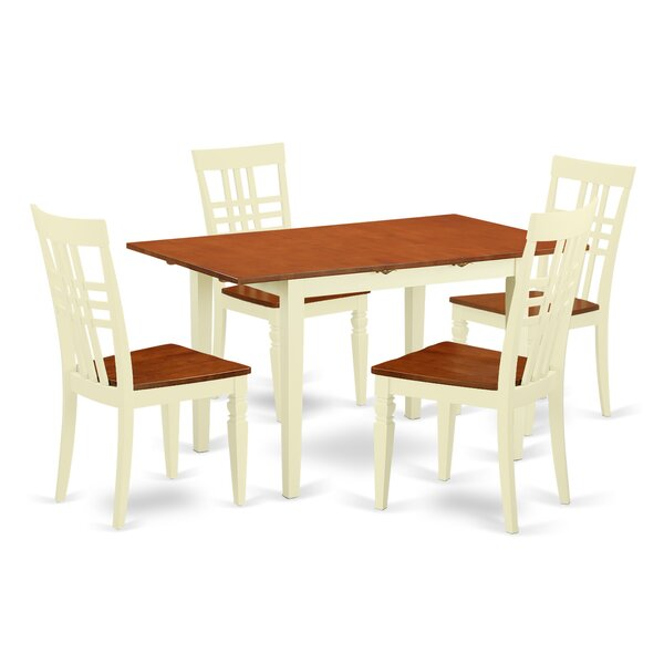 Modern 5 Piece Dining Set By East West Furniture Best