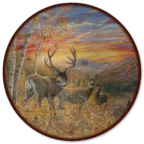 Dream Maker Mule Deer Lazy Susan by WGI-GALLERY