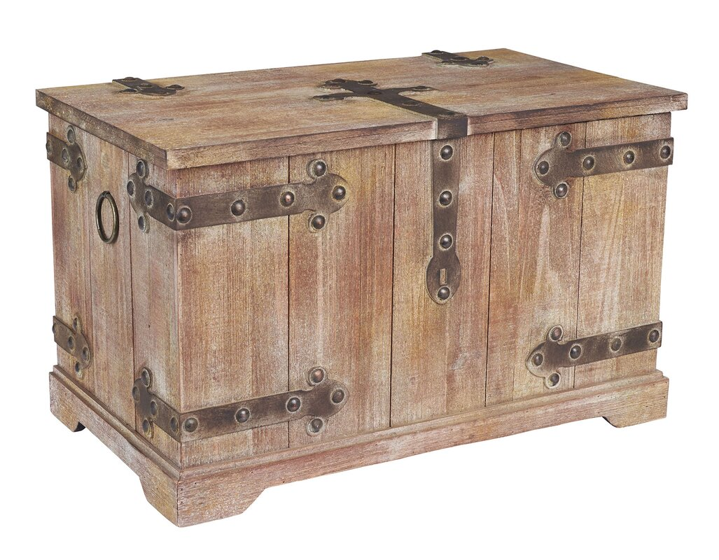 Household Essentials Large Victorian Storage Trunk