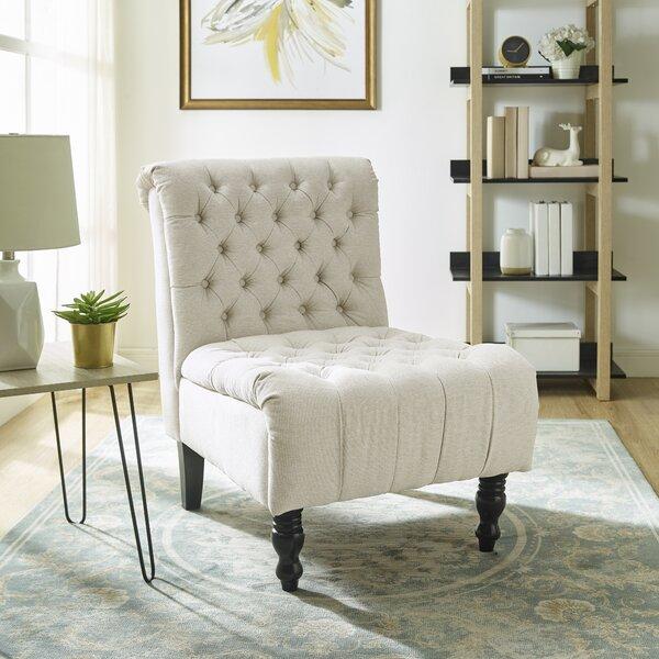 Mckellar Upholstered Slipper Chair by Charlton Home