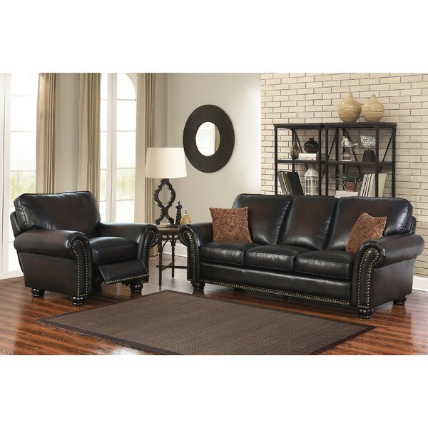 Fallsburg Reclining 2 Piece Leather Living Room Set by Darby Home Co