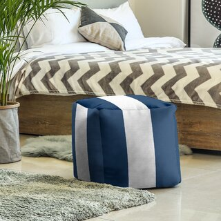 West Virginia Stripes Cube Ottoman by East Urban Home SKU:DA789881 Check Price