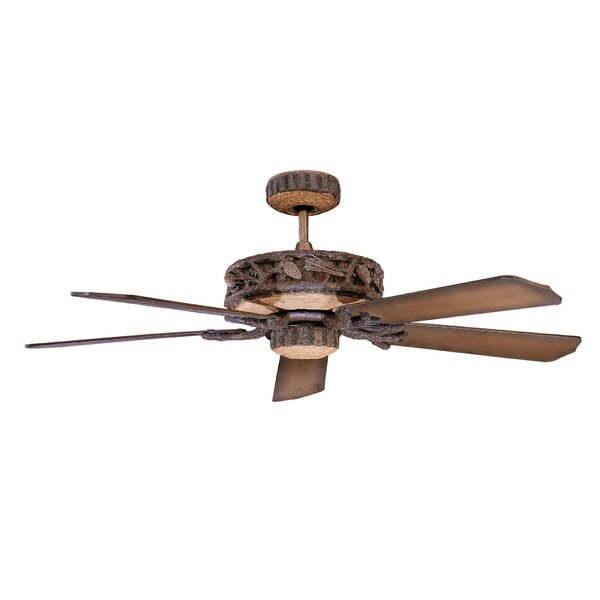 52 Alarcon 5-Blade Ceiling Fan by Loon Peak