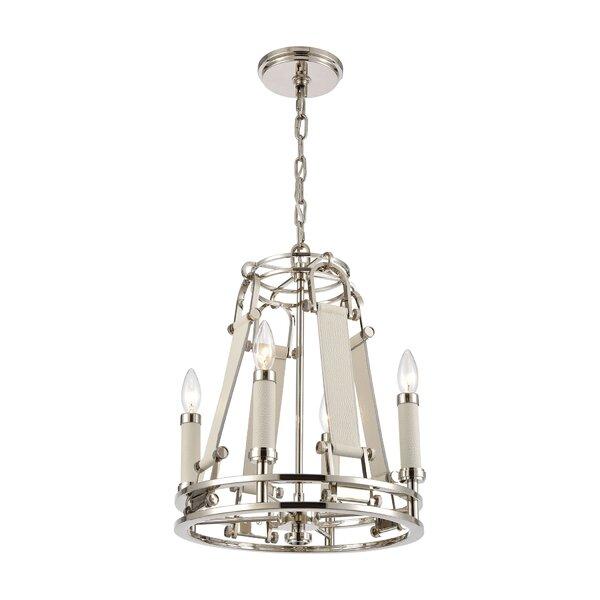 Ambani 4 - Light Unique Geometric Chandelier By Orren Ellis
