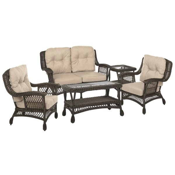 Sherise 5 Piece Sofa Seating Group with Cushions by Highland Dunes