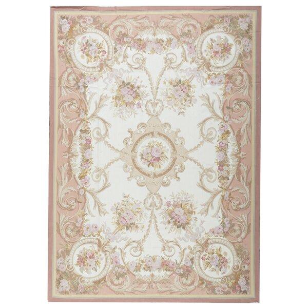 Oriental Handmade Flatweave10' x 14' Wool Beige/Brown Area Rug