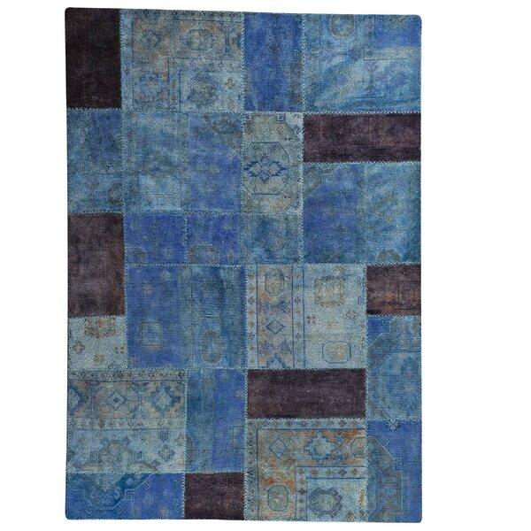 Renaissance Hand-Knotted Light Blue Area Rug by Hokku Designs