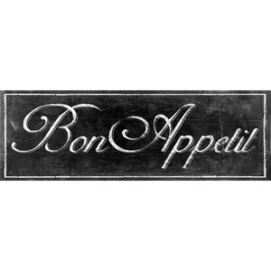 'Chalkboard - Bon Appetit II' by IHD Textual Art on Wrapped Canvas by Portfolio Canvas Decor