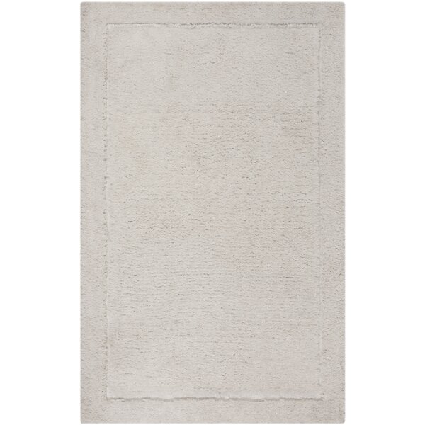 Wilbert Shag Hand-Tufted Ivory Area Rug by Winston Porter
