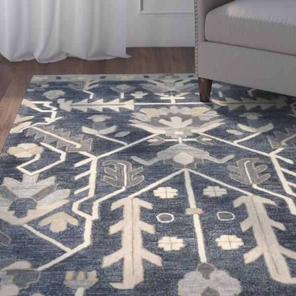 Dartmoor Hand-Tufted Denim Area Rug by Charlton Home