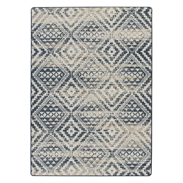 Tate Artisan Blue/Beige Area Rug by Bungalow Rose