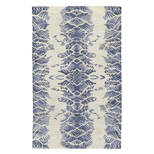 Koda Hand-Woven Ivory/Blue Area Rug by Exquisite Rugs