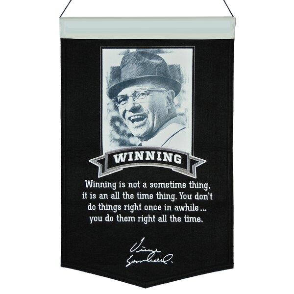 Lombardi Winning Series Number 1 Banner Wall Décor by Winning Streak