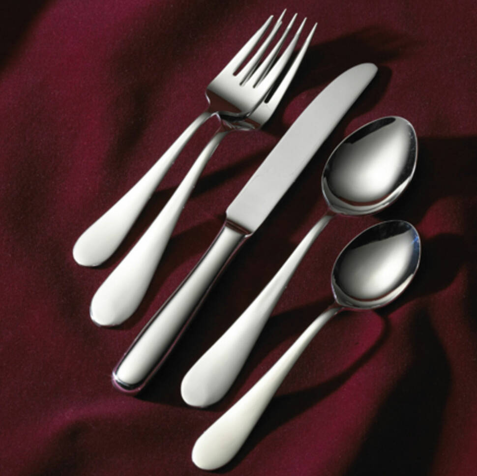 3998f63e8ce Wallace Continental Bead 65-Piece 18 10 Stainless Steel Flatware Set ...