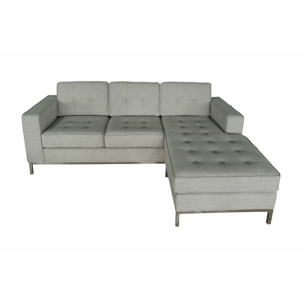 Edgware Modern Reversible Sectional by Ivy Bronx