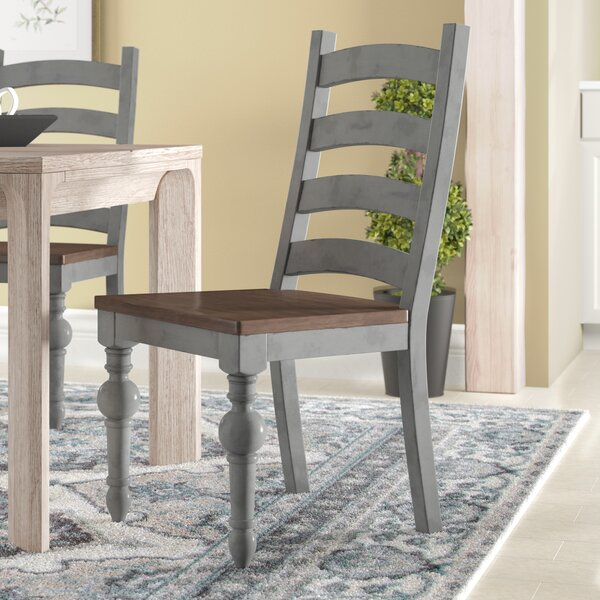 Sandbach Ladder Solid Wood Dining Chair (Set of 2) by Three Posts