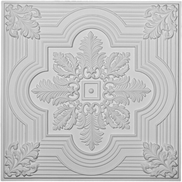 Adonis 24H x 24W x 3/4D Ceiling Tile by Ekena Millwork