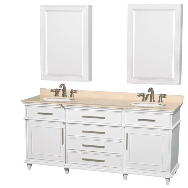 Berkeley 71 Double Bathroom Vanity Set with Mirror