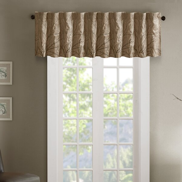 Bittle Faux Silk Embroidered 50 Window Valance by Mercury Row