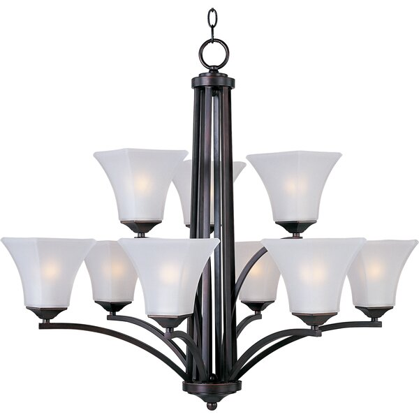 Weedman 9-Light Shaded Tiered Chandelier By Charlton Home