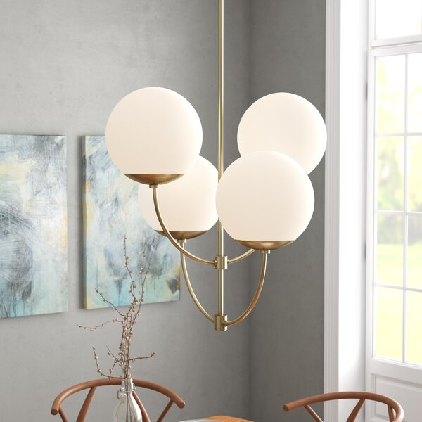 Osvaldo 4-Light Shaded Chandelier by Corrigan Stud