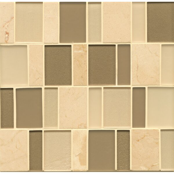 Remy Glass Mosaic Brick Blends Tile in Townsend by Grayson Martin