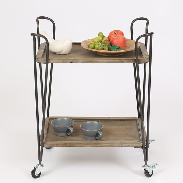 Borden 2 Tray Multipurpose Bar Cart by Williston Forge