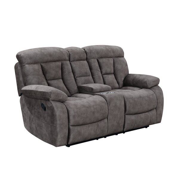Kade Genuine Leather Reclining Loveseat by Red Barrel Studio