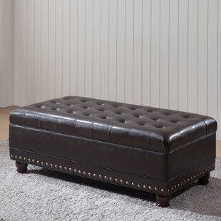 Top Reviews Castilian Faux leather Storage Bench ByNOYA USA