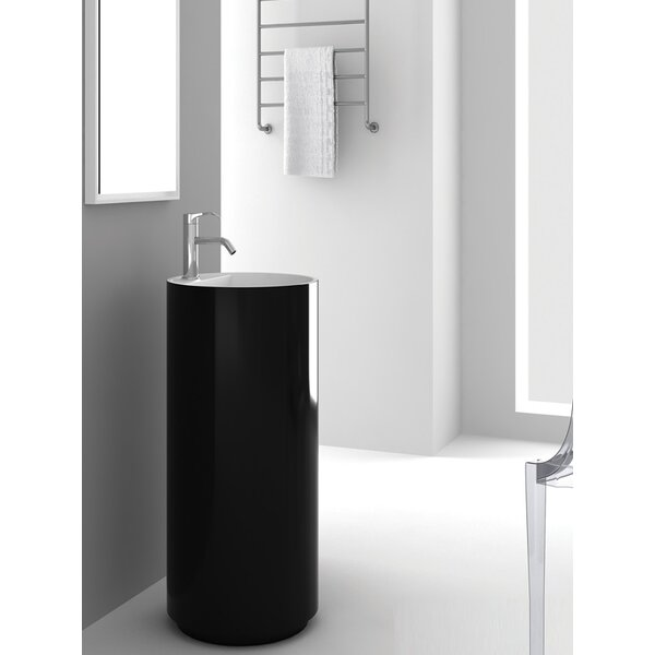 Crestview Black Pedestal by Fine Fixtures