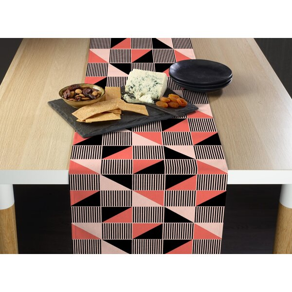 Loper Geometric Craze Table Runner by Ivy Bronx